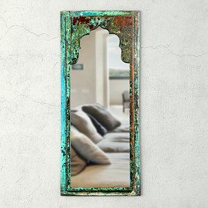 vintage wood moorish mirror 3D model