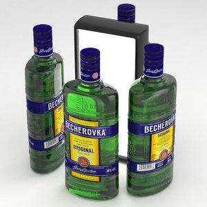 3D becherovka becher alcohol model