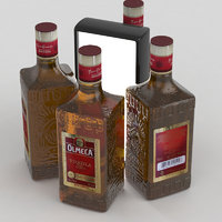 3D tequila olmeca alcohol model