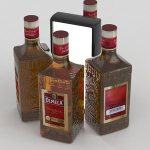 3D tequila olmeca alcohol model
