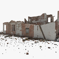 ruined house building model