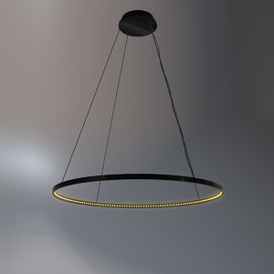 french pendant chandelier 3D
