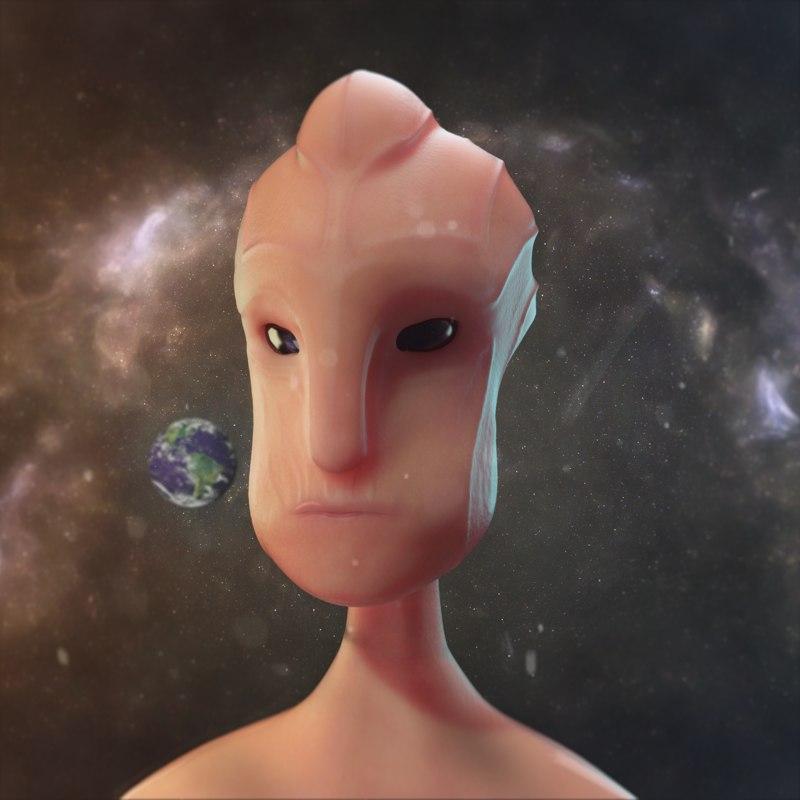 sculpt alien head 3D model