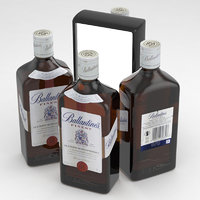 alcohol bottle whisky 3D