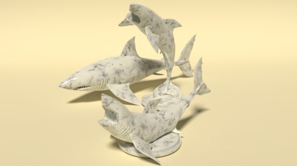 shark wood marble 3D model