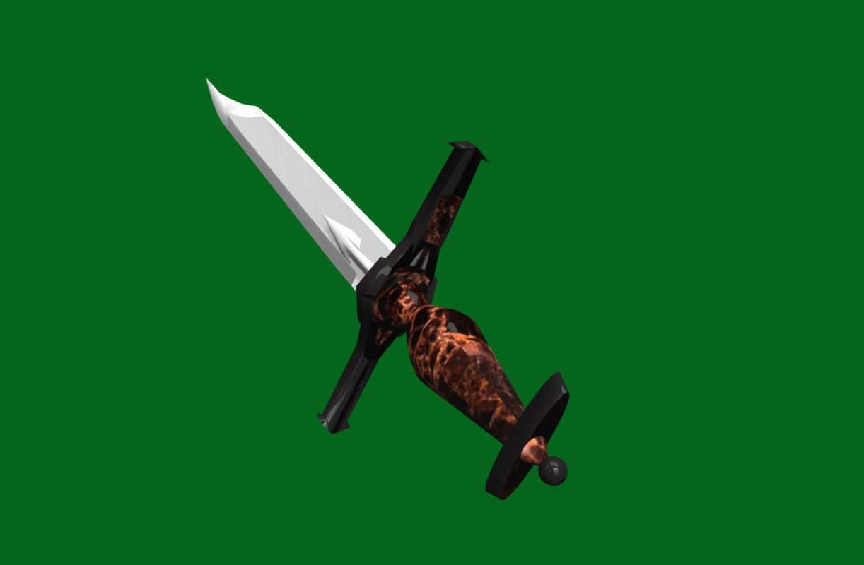 fantasy battle sword - model