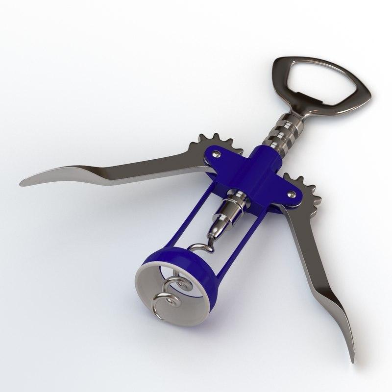 3D corkscrew rigged animation