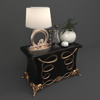 cabinet bed 3D model