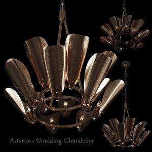 chandelier arteriors goulding 15 3D model