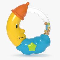 3D rattle baby moon model