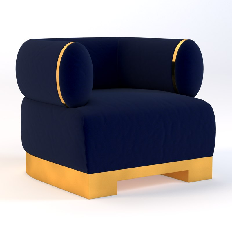 realistic photoreal chair 3D model