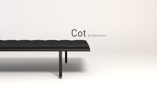 3D cot seating modelled model