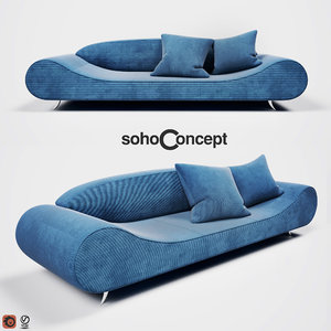 3D model designed harmony sofa