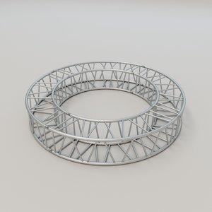 square circular truss 3D model