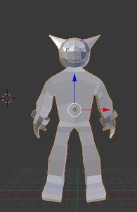 3D robot robo model