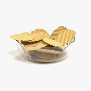 potato chips 3D