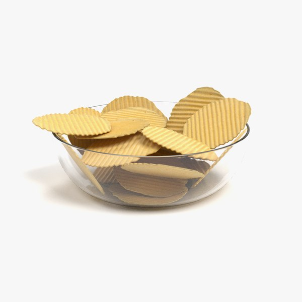 potato chips 3D