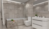 scene modern bathroom interior 3D model