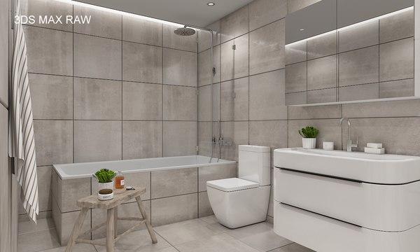 scene modern bathroom interior 3D model