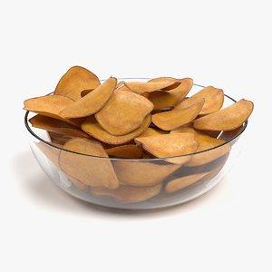 3D potato chips model