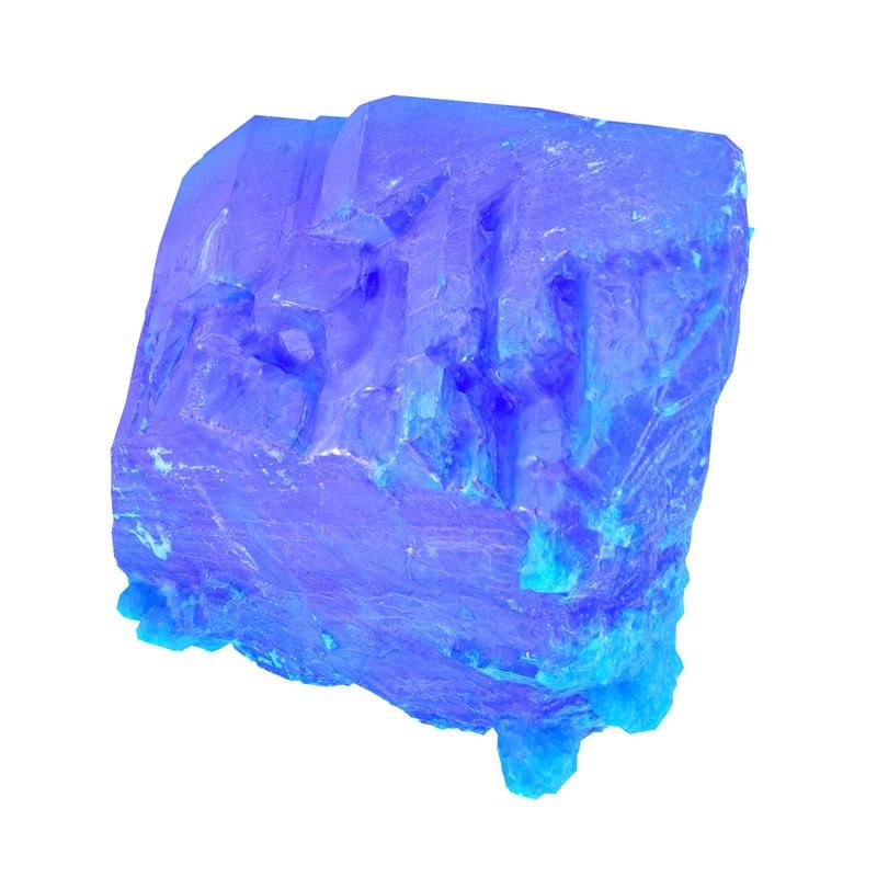 blue salt crystal 3D