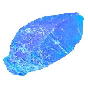 blue salt crystal 3D model