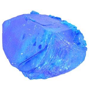 3D blue salt crystal model