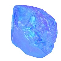 3D blue salt crystal