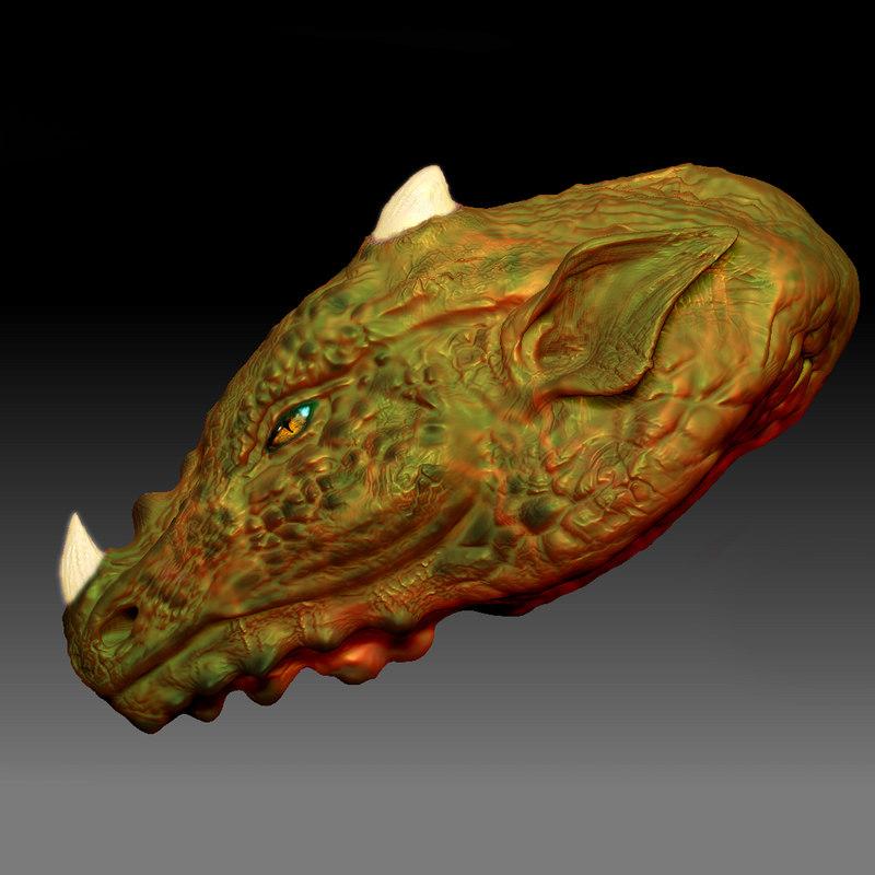dragon bust model