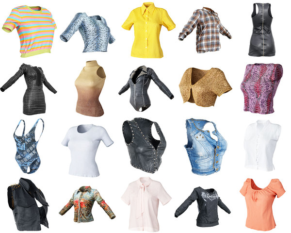 3D clothing 20 tops dresses
