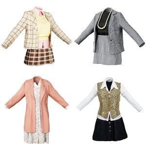 3D clothing female