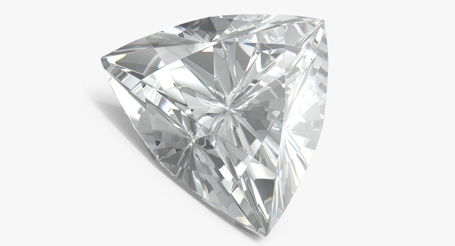 trillion cut diamond model