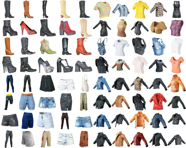 3D clothing item 80 women model