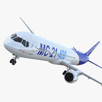 irkut airliner 400 3D