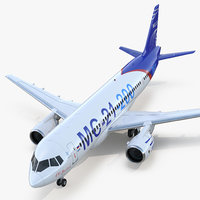 3D twinjet airliner mc 21-200