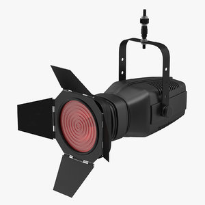3D model theatre stage light 01
