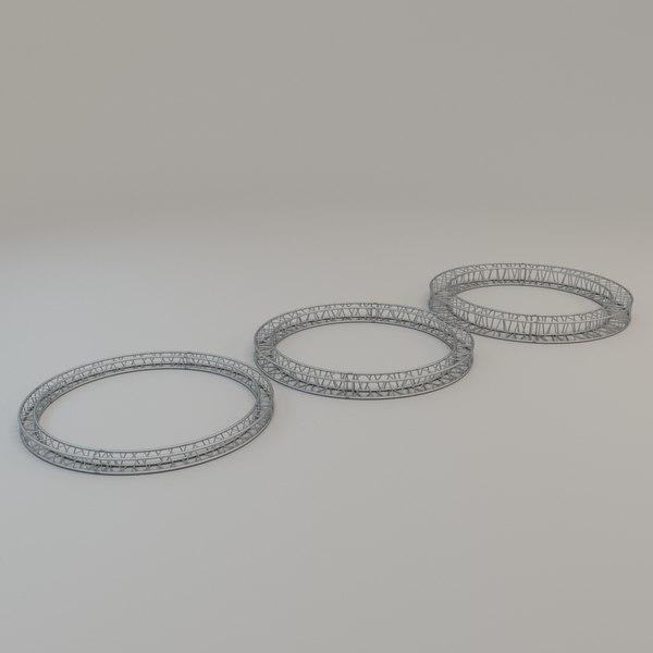 3D square circular truss