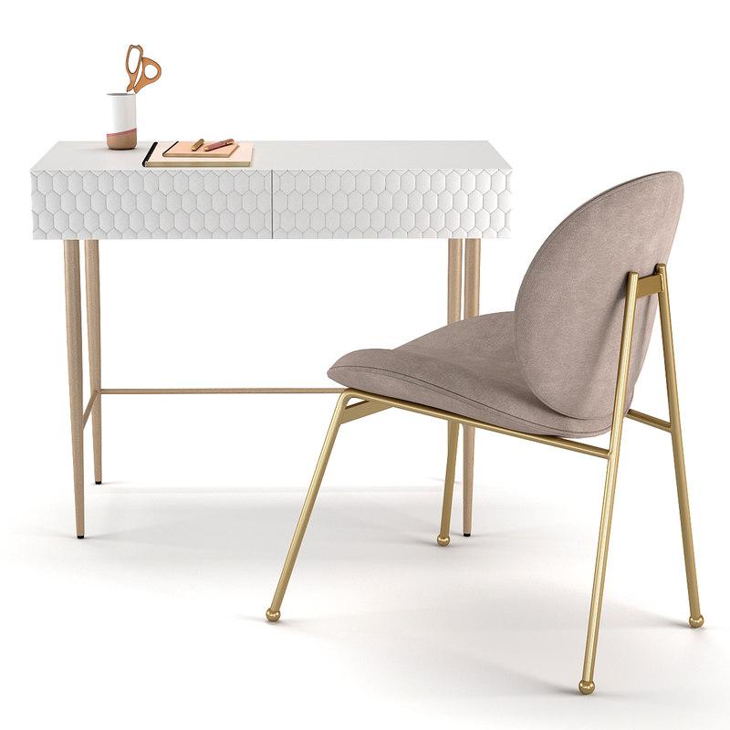 desk chair audrey mini 3D model