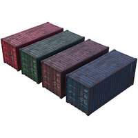 cargo container 2 3D model
