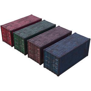 cargo container 2 3D model