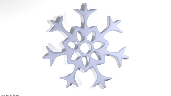 snow snowflake 3D model