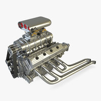 3D model hemi engine