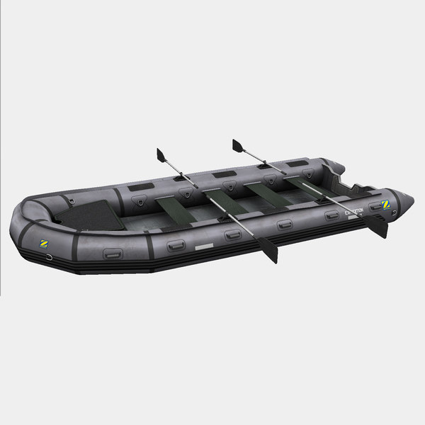 inflatable zodiac boat 3D