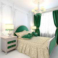 emerald bedroom 3D model