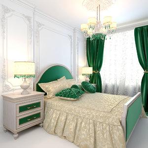 emerald bedroom 3D model