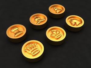 chess mold decor 3D model