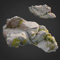 3D model scanned nature stone 031