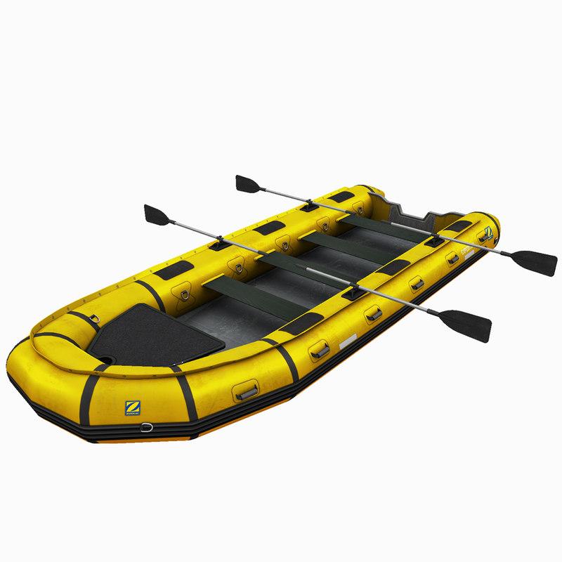3D inflatable zodiac boat model