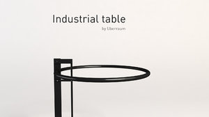 industrial table 3D model