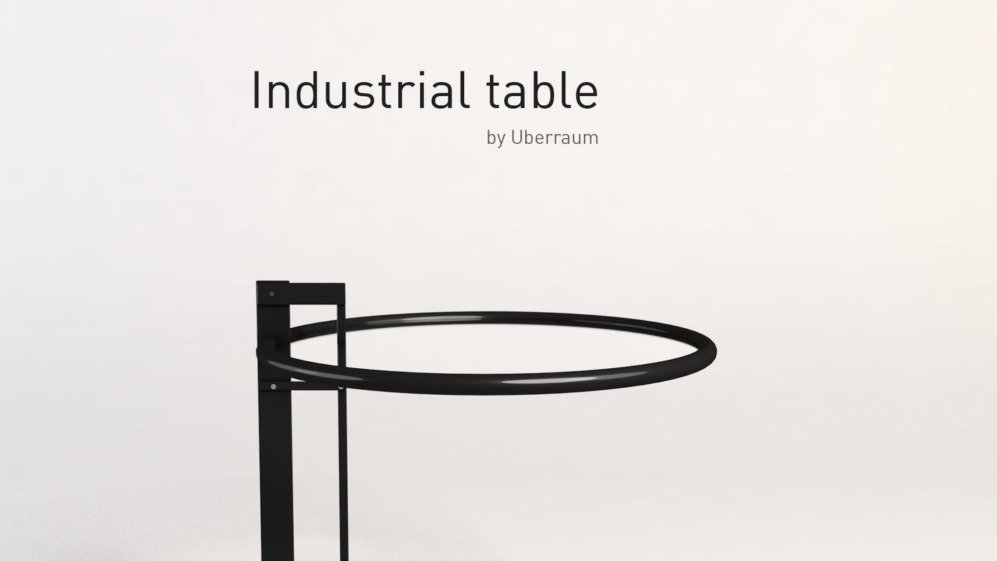 industrial table 3D model